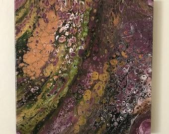 """Fluid Art, Fluid Acrylic Painting, """"Fragrant Sage"""""""