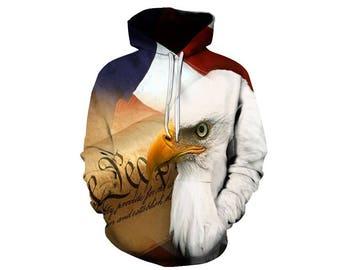 Eagle Hoodie, Eagle, Eagle Hoodies, Animal Prints, Animal Hoodie, Animal Hoodies, Eagles, Hoodie, 3d Hoodie, 3d Hoodies, Usa Hoodie Style 7