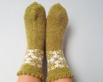Handmade wool knitted mittens with Latvian soul. MADE TO ORDER!