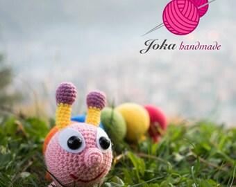 Crochet caterpillar doll