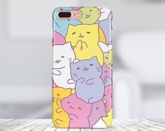 Cat case iphone 8 plus case iphone 7 case plastic case silicon case phone case iphone x case samsung s8 case iphone 7 plus case