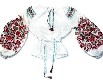 Vyshyvanka Ukrainian Clothing Gift Custom Boho Blouse Bohemian White Linen Ethnic Ukraine Vishivanka Woman Mexican Embroidery Modern Style