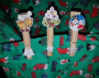 Christmas fridge magnets