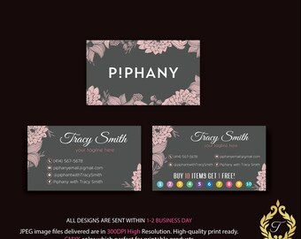 Piphany Business Card, Personalized Piphany Business Card, Floral Business Card, Piphany Marketing - Printable Card, Digital file PP01