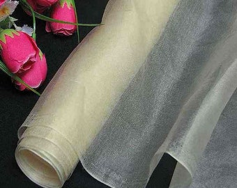 Discount  Yards Pure Silk Organza Fabric Dark Ivory for Wedding Bridal Dress (za 45DD X 3Yards love3388 love3388