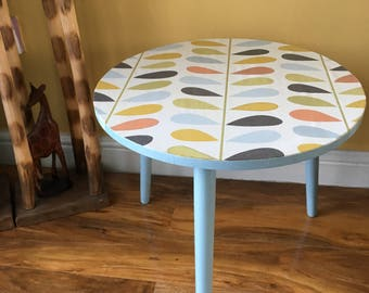 Upcycled Retro Coffee Table / side Table/ occasional table
