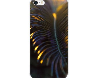 Phone Accessories/Light Shadow Play/Gold/ Original Photography/Coconut Frond/iPhone 5 case/ iPhone Case 6, 7 , 8, 8 plus