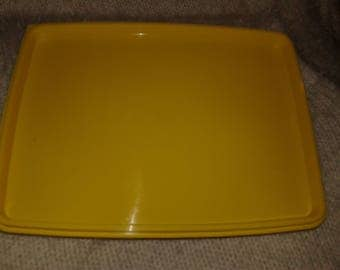 Tupperware Vintage Yellow Food Storage Tray