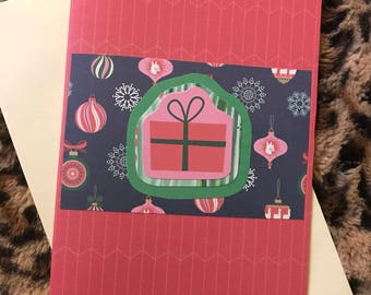 Red gift greeting card
