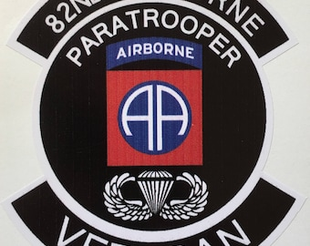 """US Army 82nd Airborne Division Veteran Decal 4"""" Waterproof New"""