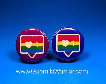LGBT Instant Message (1.25 inch pinback button)