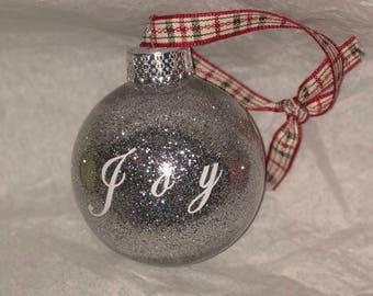 Christmas Glitter Joy ornament
