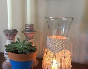 Macrame Vase, Carafe, or Lantern