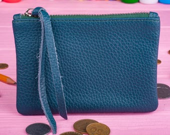 Leather wallet Ladies wallet Coin wallet Coin purse Coin pouch Leather coin pouch Leather pencil case Gift for her Womens wallet