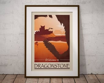 Game of Thrones A3 Print | Poster | Dragonstone | Artprint