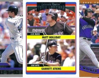 COLORADO ROCKIES Baseball Team Lot - 200 Assorted Cards