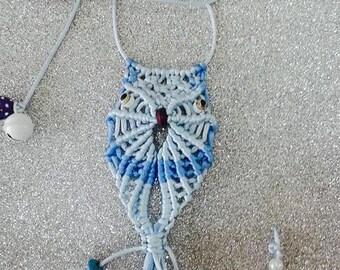 Handmade Macrame owl wall hanging