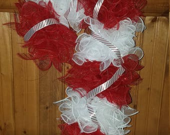 Candy cane with ribbon
