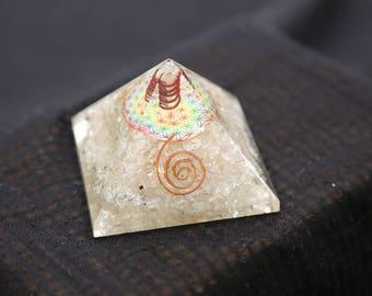 Orgone Crystal Quartz Pyramids