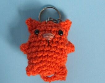 Ginger Tom Cat keychain/keyring