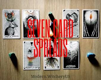 Seven (7) Card Tarot Spreads