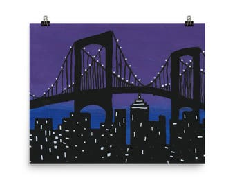 The New York Skyline - Beautiful Archival Cotton Rag Fine Art Giclée Print Supporting the Nonprofit Fresh Artists
