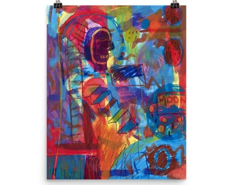 Moon Man - Beautiful Archival Cotton Rag Fine Art Giclée Print Supporting the Nonprofit Fresh Artists