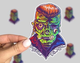 Ghoul Sticker, Horror sticker, Horror Car Sticker, Monster Sticker, Retro Sticker, Friday the 13th, 90s sticker