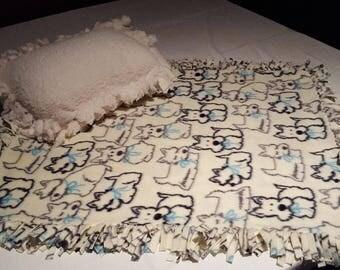 Homemade fleece dog blanket