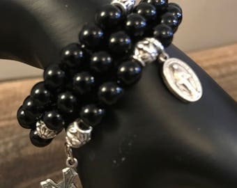Catholic Rosary Wrap Bracelet