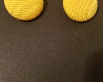 Yellow Button Earring