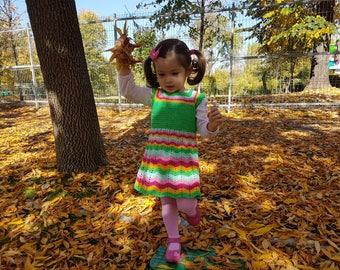 crochet dress pattern, dress pattern, crochet yoke dress pattern (sizes 9-12 months to 2 years old), baby crochet dress pattern