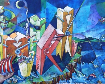 Canvas Painting, Original, Abstract Painting, Large Oriгginal Art, Acrylic Art, Artwork, Contemporary Home Decor