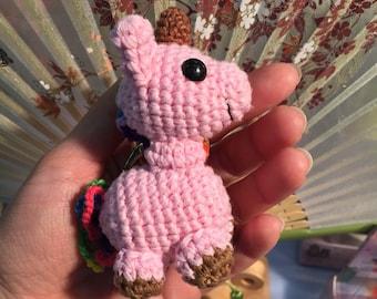 Keychain licorn in AMIGURUMIS