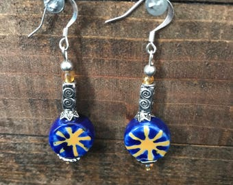 Sun, moon and star earrings