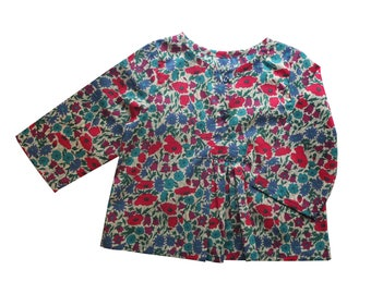 Tunic Liberty Poppy and Daisy in sizes 3/6/12/18/24 months, 3/4 and 4/5 years