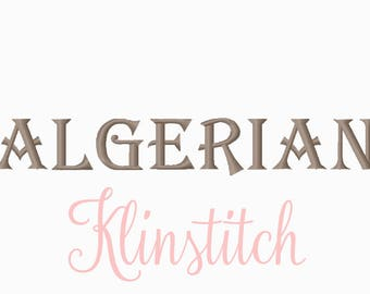 50% Sale!! Algerian Embroidery Fonts 3 Sizes Fonts BX Fonts Embroidery Designs PES Fonts Alphabets - Instant Download