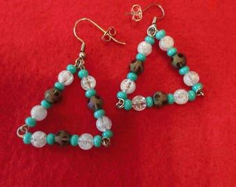 Triangle drop earrings 25