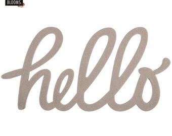 HELLO sign, Hello Handwritten Chipboard Word, Handwritten Chipboard Word