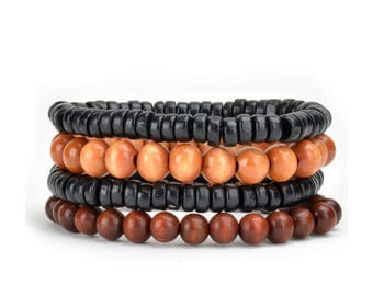 4 Pack Layered Bracelet Set