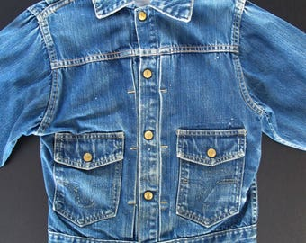 Vintage 1950s denim Big Smith Buckaroo jacket * styled like Levi's Type 2, size S