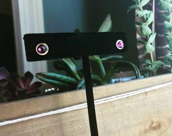 Swarovski Purple Stud earrings