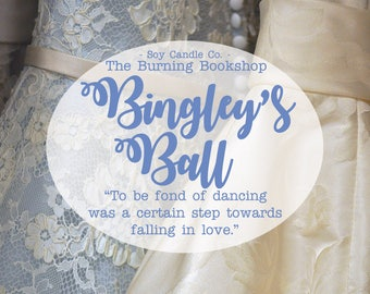Bingley's Ball | Pride and Prejudice Inspired Bookish Soy Candle