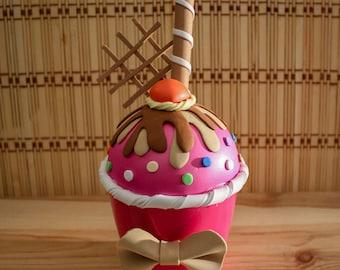 Chocolate and Strawberry Cupcake box