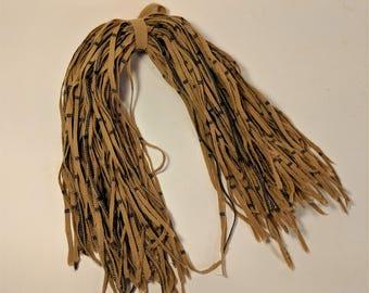 Vintage Taupe Dark Navy #4 Blade Cut Windowpane Check 100 Strips for Rug Hooking Rug Hooking Supply Felted Wool Price per 100 Bundle