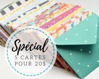 Special 5 greeting cards - cards for the price of 4!