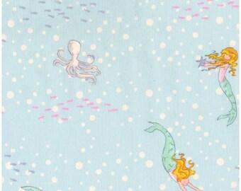 Mermaid Play, Michael Miller, Sarah Jane, Blue, Fabric