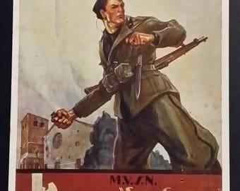 Postcard M.V.S.N. 58 Legion San Giusto