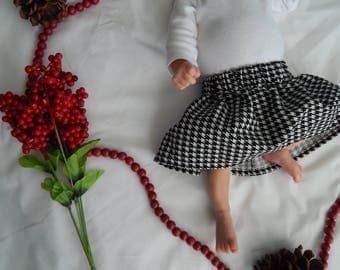 Houndstooth Baby/Toddler Skirt