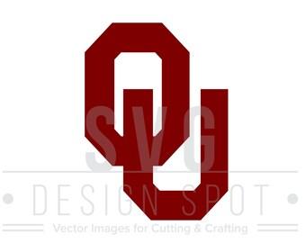 Oklahoma University Logo SVG, OU Sooners Wall Art, Oklahoma University Logo for Cricut Silhouette Cameo, Logo Design Files - Eps Svg Dxf Png